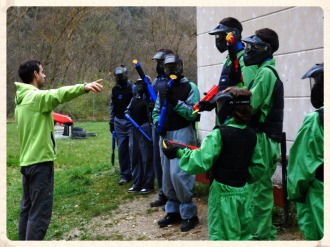 Paintball niños y familias en el Centro de Aventura de Sobrón